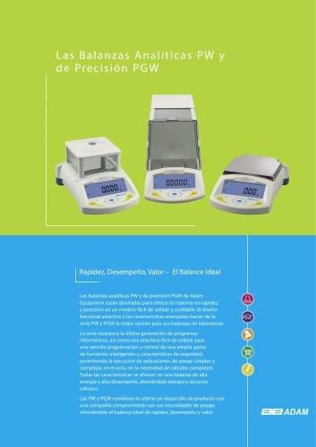 Balanza analitica PW y de precision PGW