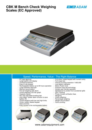 CBK M Bench Check Weighing Scales (EC Approved)