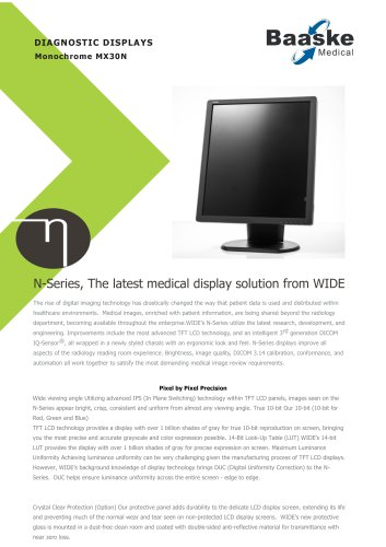 Wide Diagnostic Display MX30N 3MP
