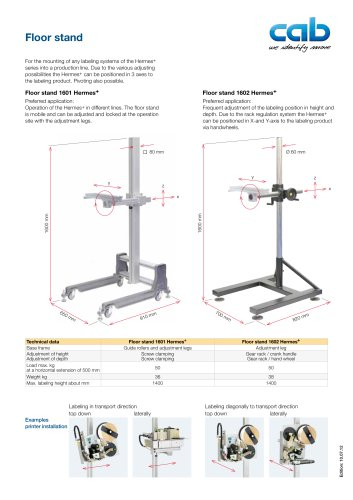 Hermes+ floor stand 1601 and 1602