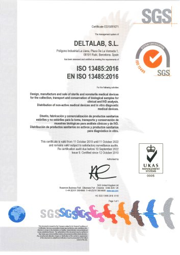 Deltalab, ISO 13485