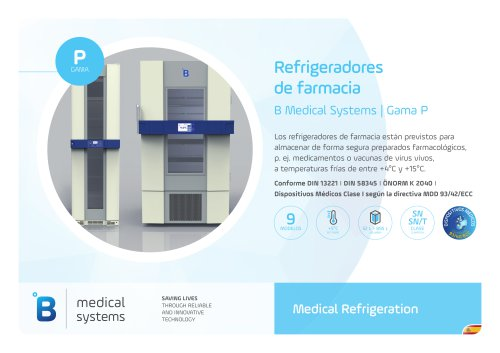 B Medical Systems Refrigeradores de farmacia
