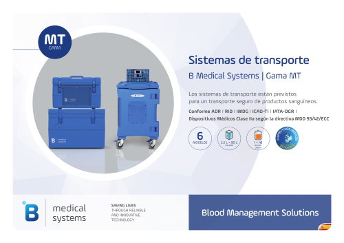 B Medical Systems Sistemas de transporte