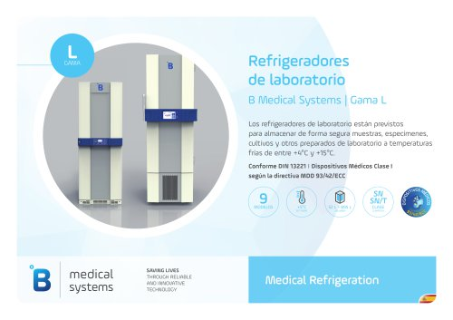 Refrigeradores de laboratorio B Medical Systems | Gama L