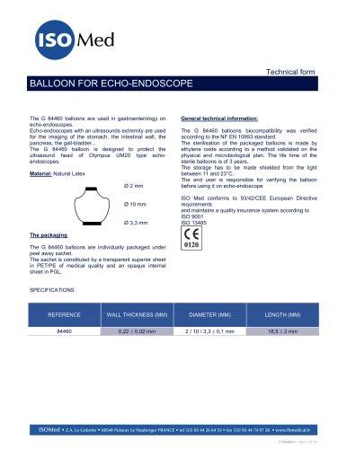 Echo endoscopy balloons