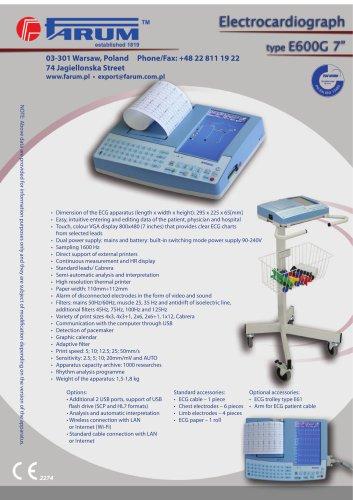 Electrocardiograph type E600G