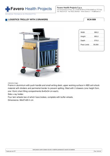 LOGISTICS TROLLEY WITH 2 DRAWERS 9CA1009
