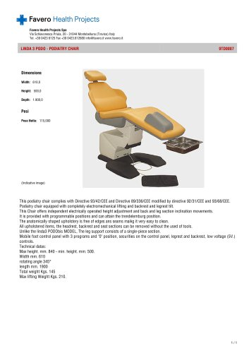 Podiatry chairs:9TD0007