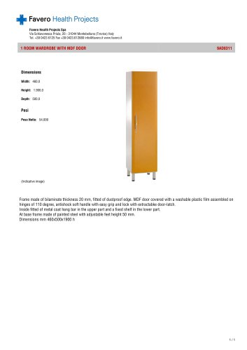 Wardrobe with MDF doors:9AD0311