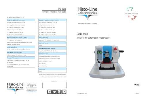 ARM 3600 Microtomo automatico motorizado