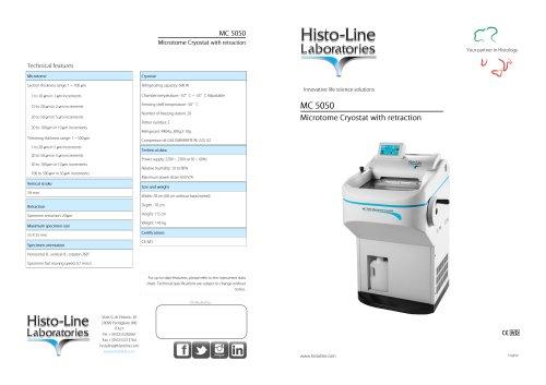 MC 5050 Semi-automatic Cryostat