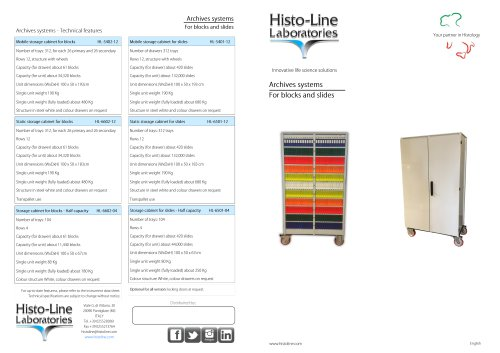 Slide archive system MD-5401-11