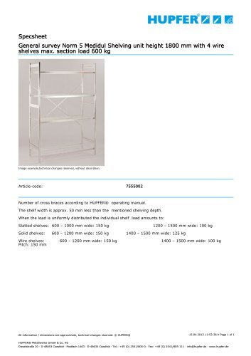 Norm 5 Medidul Shelving unit