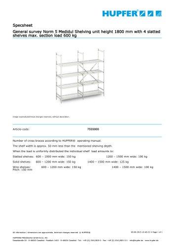 Specsheet General survey Norm 5 Medidul