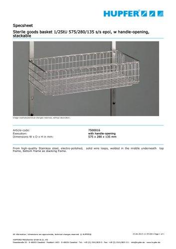 Sterile goods basket 1/2StU