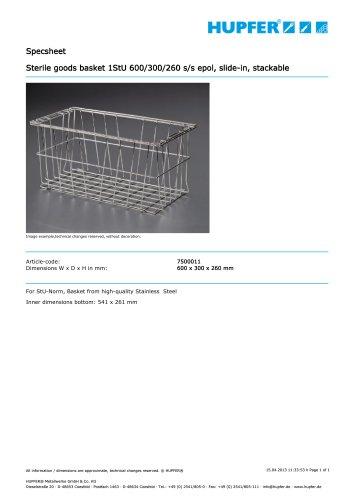 Sterile goods basket 1StU