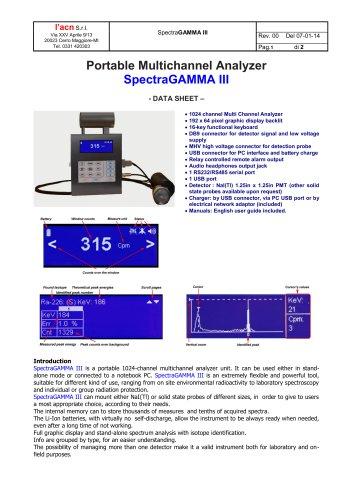 SpectraGAMMA III