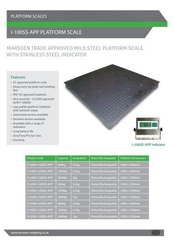 I-100SS-APP Platform Scale