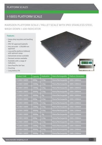 I-100SS Platform Scale