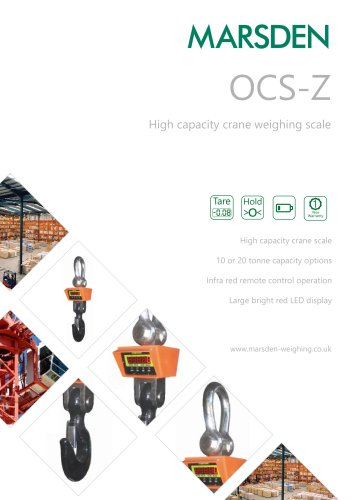 Marsden OCS-Z Crane Scale