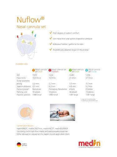 Nuflow® Nasal cannula set