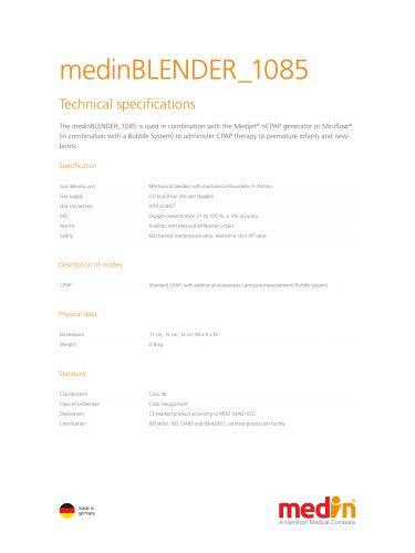 Technical Specifications medinBLENDER 1085