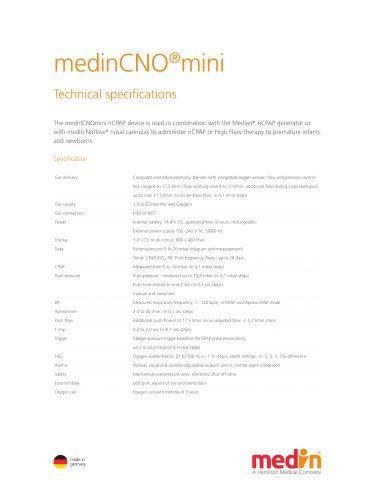 Technical Specifications medinCNO®mini