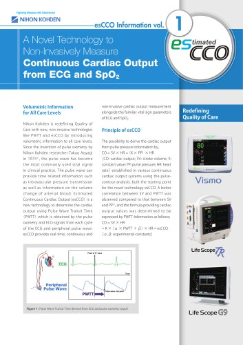 Continuous Cardiac Output from ECG and SpO2