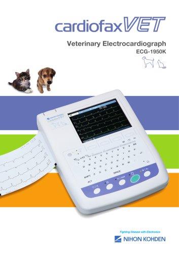 ECG-1950K cardiofax VET Veterinary Electrocardiograph
