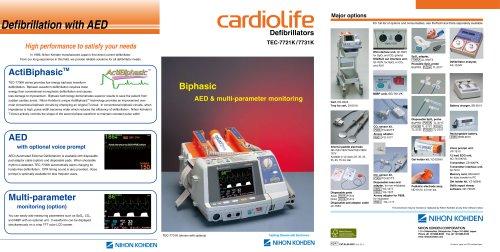 TEC-7721K, TEC-7731K cardiolife Defibrillators