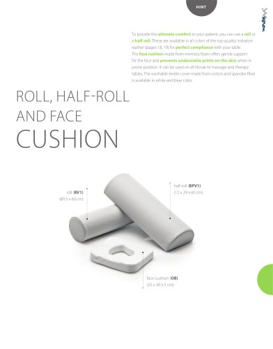 ROLL, HALF-ROLL AND FACE CUSHION