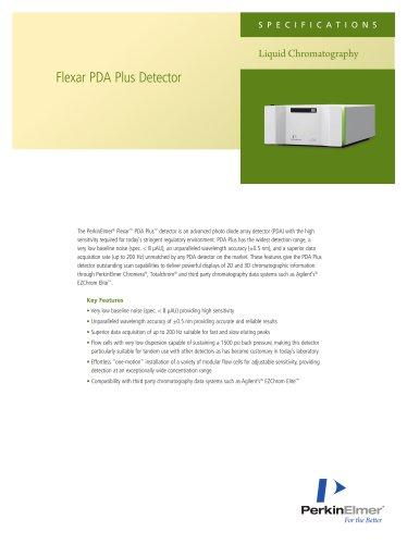 Flexar PDA Plus Detector