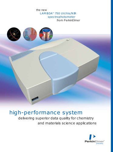 LAMBDA™ 750 UV/Vis/NIR spectrophotometer from PerkinElmer
