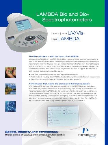 LAMBDA Bio and Bio+ Spectrophotometers