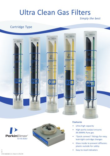 Ultra Clean Gas Filters Catalog