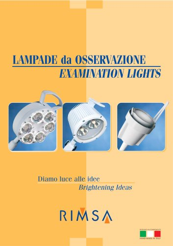Brochure Examination Lamps