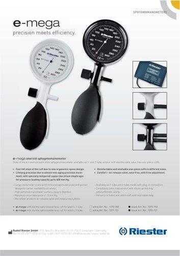e-mega® Sphygmomanometer