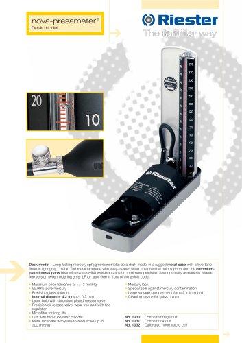 Mercure sphygmomanometer Nova