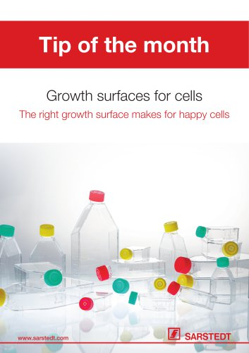 Growth surfaces for cells