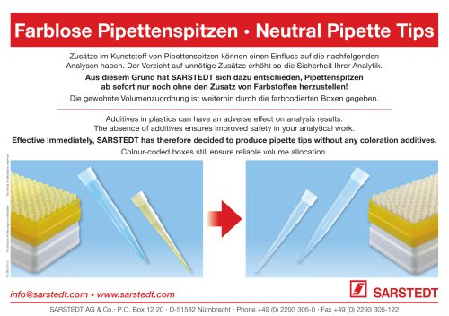 Neutral Pipette Tips