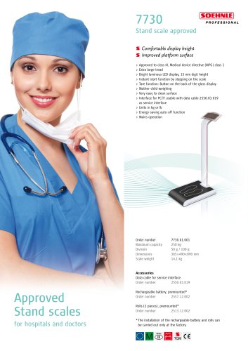 7730 Stand scale, approved