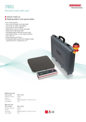 7801 Personal scale with case