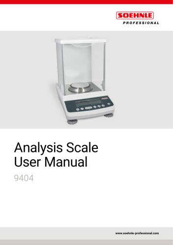 Analytical scale Conformity assigned