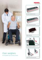 Chair weighers for hospitals and nursing homes
