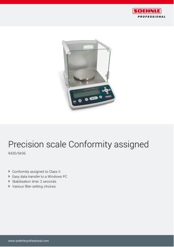 Precision scale Conformity assigned