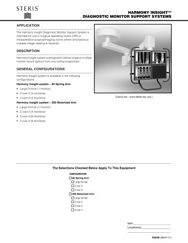 HARMONY INSIGHT DIAGNOSTIC MONITOR SUPPORT SYSTEMS