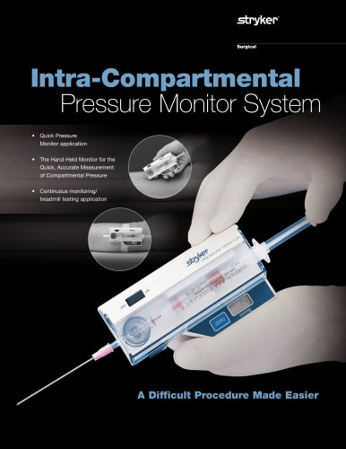 Intra-Compartmental Pressure Monitor