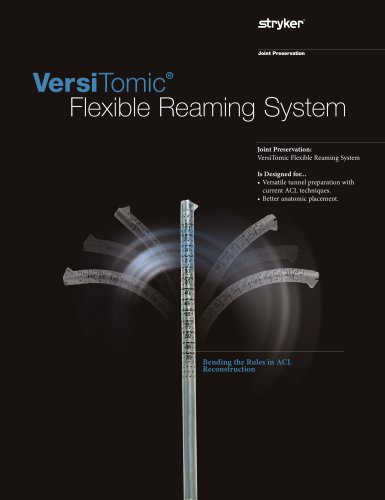 VersiTomic Flexible Reaming System Brochure
