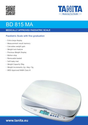 BD-815 MA BABY SCALE WITH FINE GRADUATION