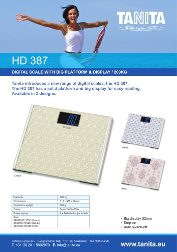 HD-387 200KG HIGH CAPACITY DIGITAL SCALE WITH LARGE PLATFORM AND DISPLAY